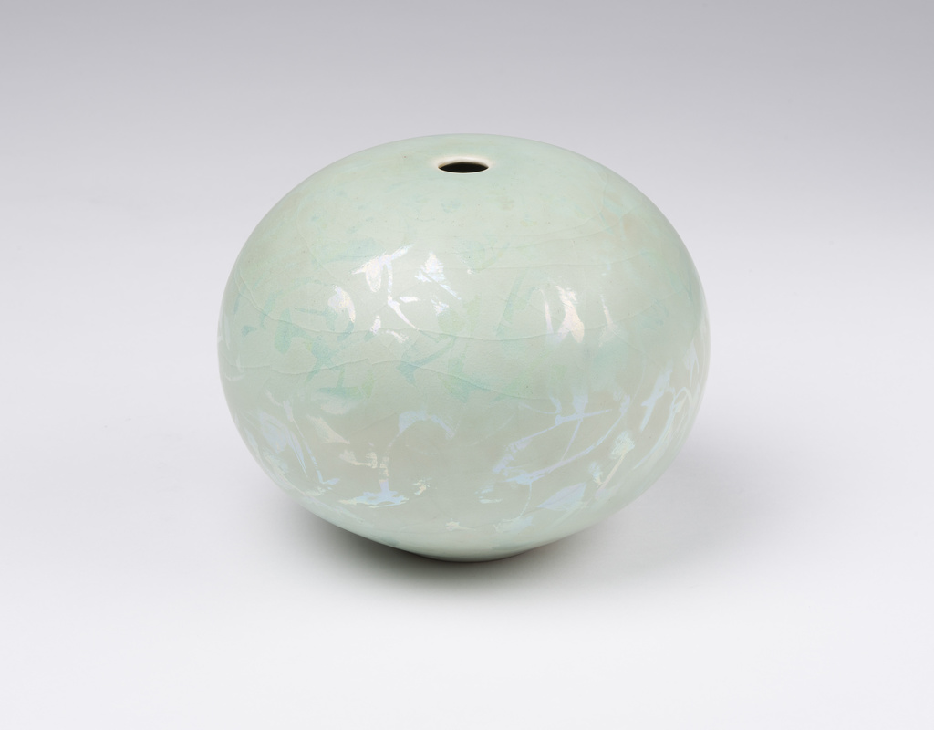 <span>Greg Daly</span>Etched lustre vase, 1989 1989