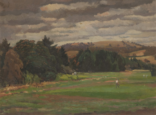 <span>Douglas DUNDAS</span>Cloudy day on the links 1951