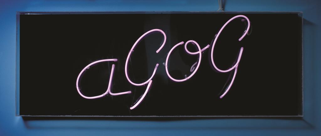 <span>Winifred Mumford, designer manufactured in Queanbeyan</span>aGOG signage 1989