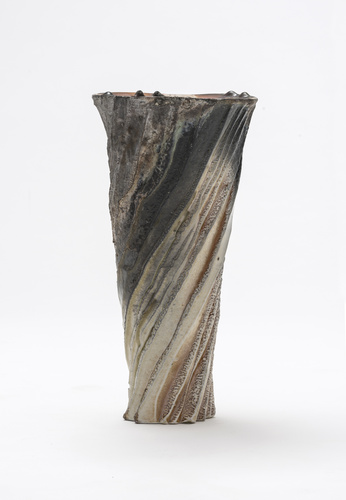 <span>Ian Jones</span>Cut and torn vase 1997