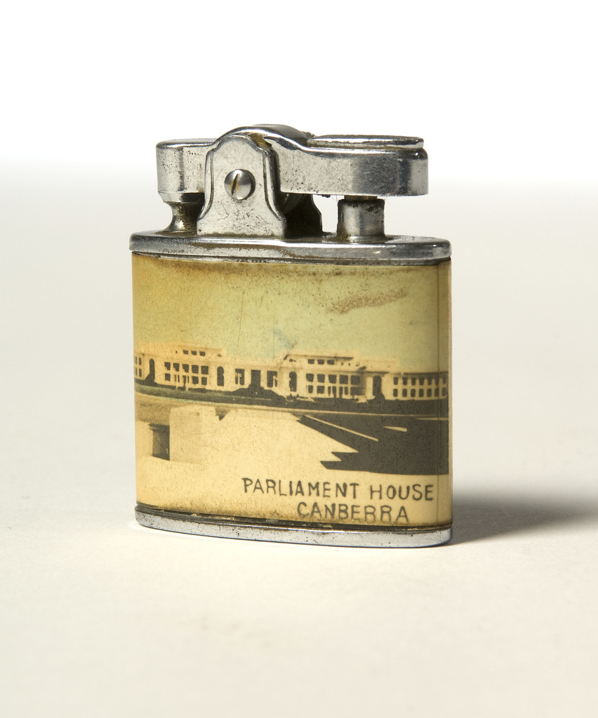 <span></span>Cigarette lighter, Parliament House Canberra Circa 1950