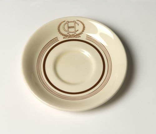 <span>Grindley Hotelware Co England</span>Saucer: Hotel Canberra